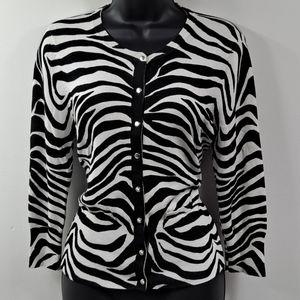 Like New! WHBM Zebra Cardigan M